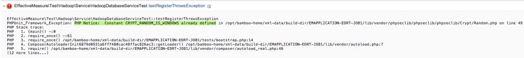 PHP Notice:  Constant CRYPT_RANDOM_IS_WINDOWS already defined